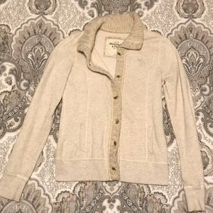 Abercrombie & Fitch Button Up Sweater